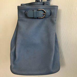 Vintage COACH Light Blue Mini Sling Backpack Bag